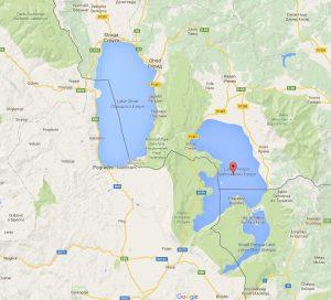 Map Lake Ohrid, Lake Prespa